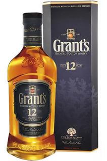 Whisky Grants 12 Años De Litro Con Estuche Escoces