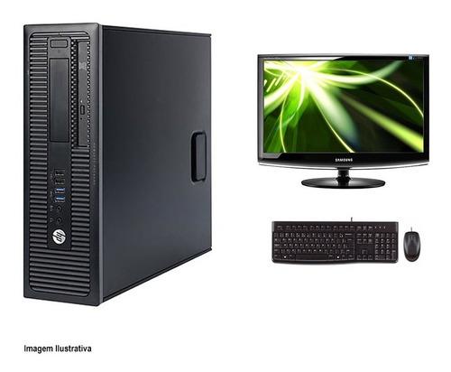 Computador Hp 600 G1 I3 4° Geração 8gb 240ssd Monitor 18