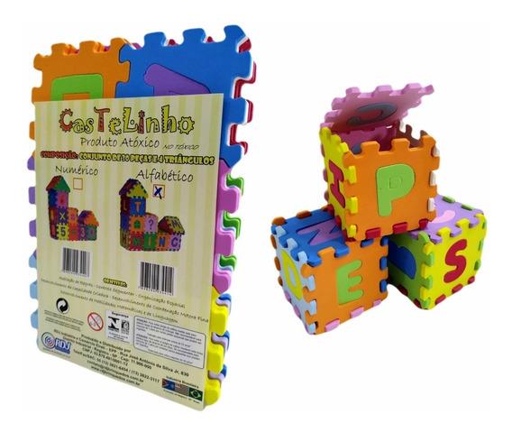 Brinquedo Pedagógico Educativo Castelinho Alfabético Em Eva
