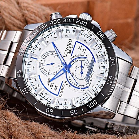 Relógio Masculino Longbo Quartzo-aço 316l Inoxidáve Promoção