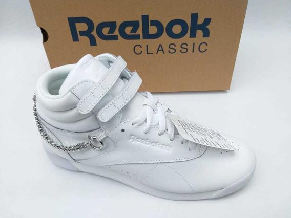Tênis Reebok Botinha Freestyle Hi Correntes Branco Original