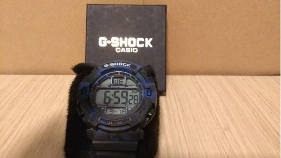 Relógio G Shock G135 Camuf. Azul/preto Liquidação Estoque