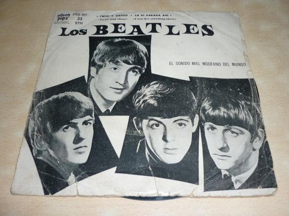 Los Beatles Twist Y Gritos Simple Con Tapa Argentino
