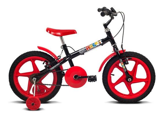 Bicicleta Rock - Aro 16 - Preto E Vermelha - Verden Bikes