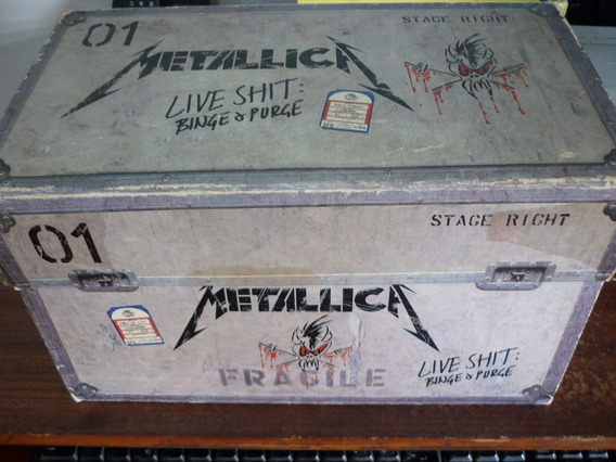 Metallica Live Shit Binge & Purge Boxset 3cds 3 Vhs + Book