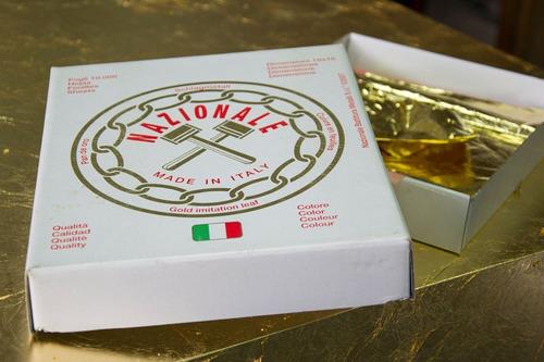 100 Folhas De Ouro 16x16 Italiana Nazionale Prima-prima