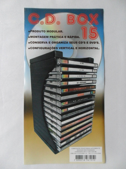 Porta Cd Modular - Cd Box 15 - Organizador P/ 15 Cds