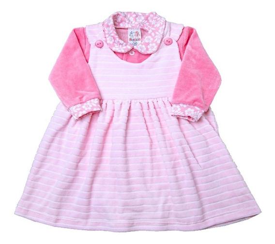 Vestido Bebe Plush Com Body - Ref 12508