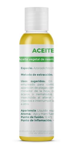 Aceite De Neem  60 Ml Puro Prensado En Frío