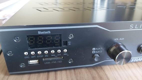 Amplificador Receiver Usb Bluetooth Som Ambiente Frahm 4000