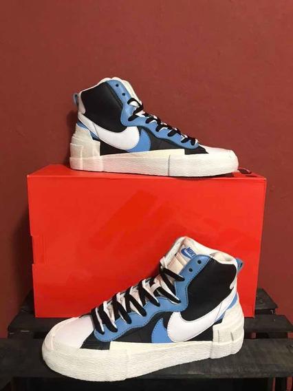 Sneakers Nike Blazer Mid Sacai Blue Azul 1:1 Ua Con Caja