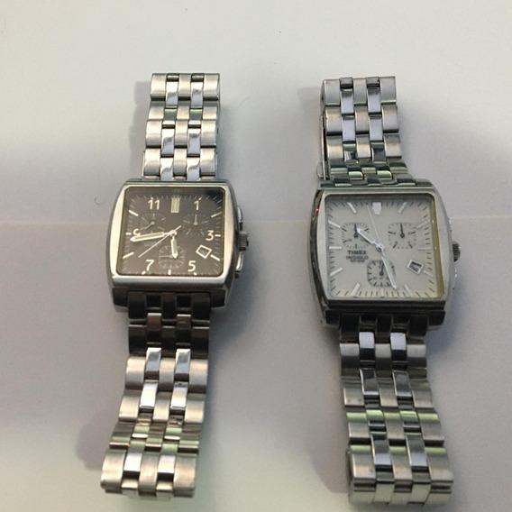 Relógio Timex Monaco T22262 Quadrado Preto E Branco
