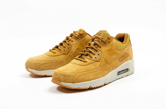 Tênis Nike Air Max 90 Ultra 2.0 Leather Wheat Ligth Bone.