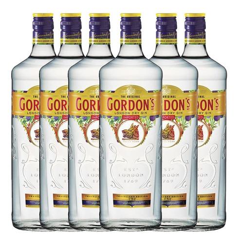 Gin Gordons 700ml Ginebra Caja X6 Botella Pack 6u 01almacen