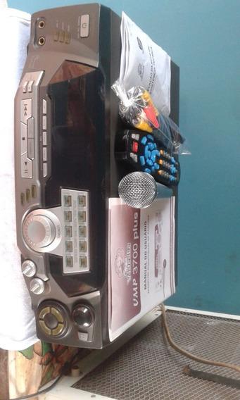 Videoke Raf 3700 Plus 600 Musicas E 2 Microfones Originais