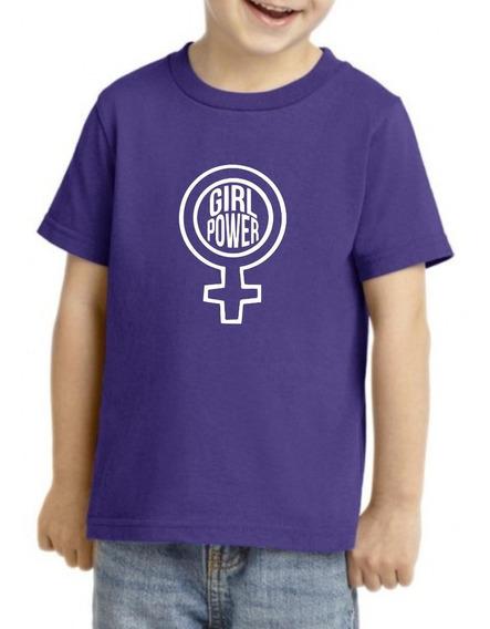 Camiseta Playera Niño Niña Feminista 9marzo Girl Power Puñou