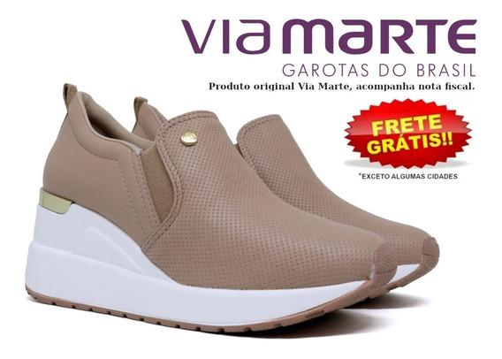 Tênis Feminino Via Marte Anabela Flatform Sneaker 19-12376