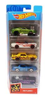 Carrinhos Hot Wheels - Pacote Com 5 Carros - Flames - Mattel