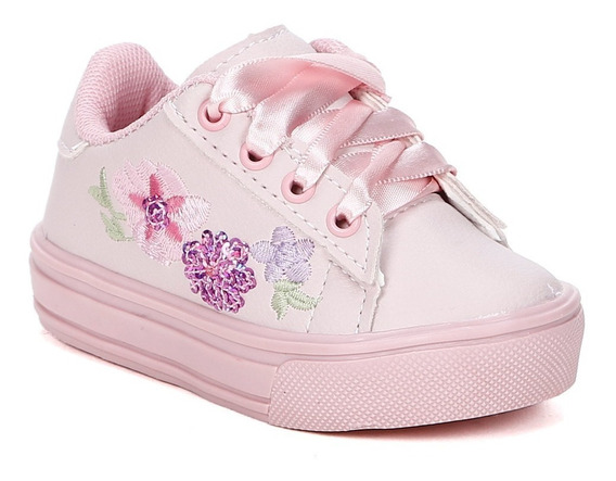 Tênis Infantil Para Bebê Menina - Rosa