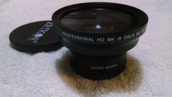 Super Macro Professional 0.43x Wide Lens Zeico Para Cannon