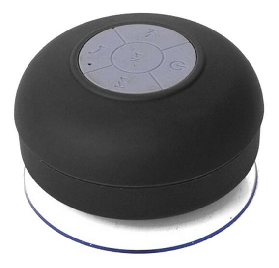 Mini Caixinha Som Bluetooth Prova Água Para Banheiro Preta