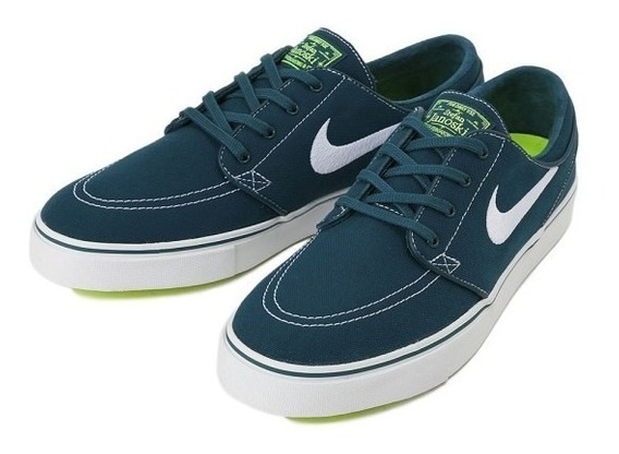 Tênis Nike Stefan Janoski Canvas 615957-317 Azul Petroleo
