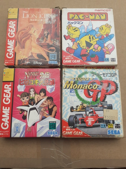 Lote 4 Jogos Sega Game Gear Na Caixa Frete Gratis 12x Sem Ju