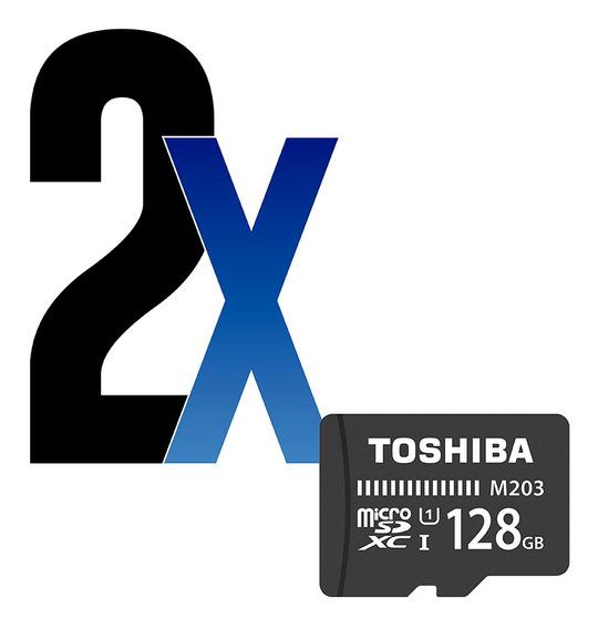Cartão De Memória 128gb Microsdxc 100mb/s Toshiba 2un