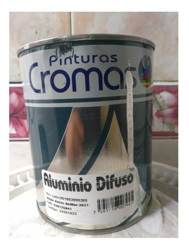 Pintura Aluminio Difuso Pinturas Cromas Clase A 1/4 De Galon