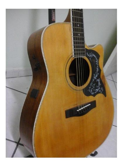 Violão Yamaha Fg441c Folk Elétrico Tampo Sólido ( Anos 90 )