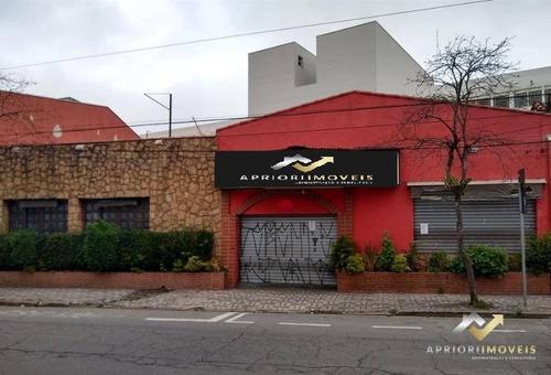Salão Para Alugar, 391 M² Por R$ 14.000,00/mês - Centro - Santo André/sp - Sl0137