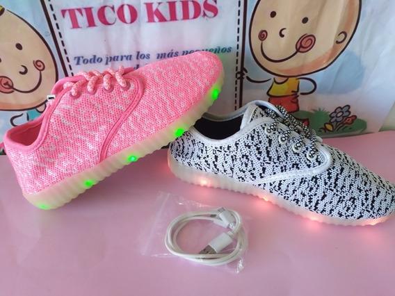 Zapatos Con Luces Recargables Para Niños Y Niñas 35 36