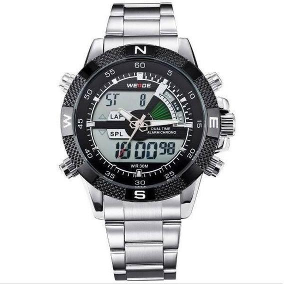 Relógio Masculino Weide Anadigi Wh-1104 - Prata