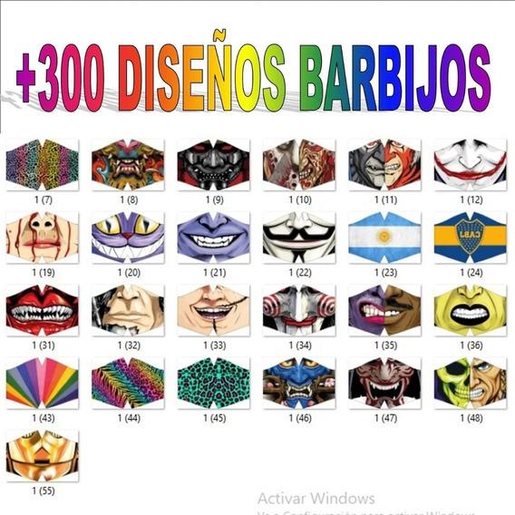 Plantillas Sublimacion Tapabocas Barbijos + 300 Diseños