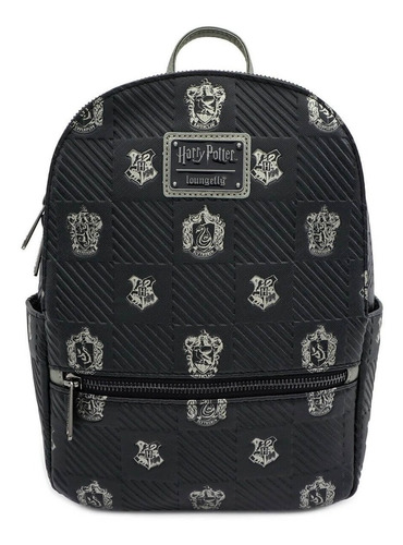 Bolsa Loungefly Backpack Harry Potter Escudos Casas Hogwarts