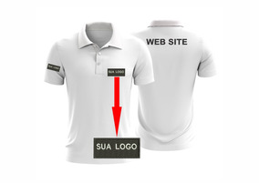 Camisa Kit 8 Polos Bordadas Sua Logo / Peito/mangas/costas