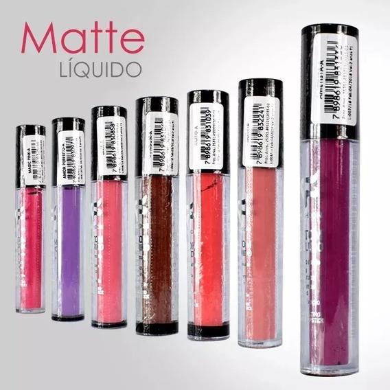 Kit Com 24 Batom Matte Fashion Líquido 24h Atacado Promoção