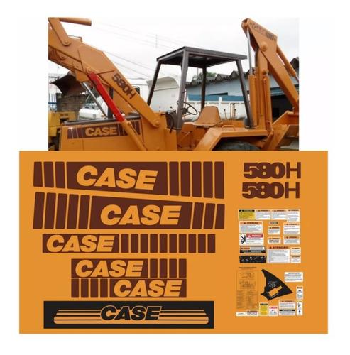 Kit Adesivo Completo Retroescavadeira Case 580h +etiqueta Mk