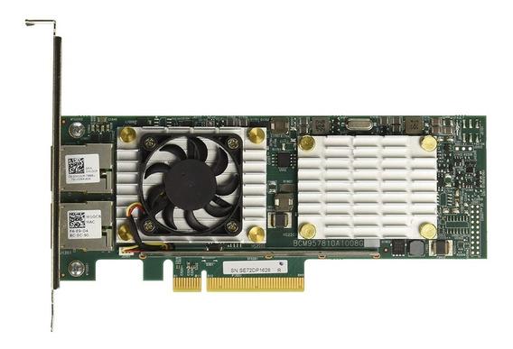Placa De Rede Dell Qlogic 57810s Dual Port 10gb Rj45 W1gcr Hn10n Broadcom Ñ X540 T2 Hp Intel Ibm Lenovo Supermicro