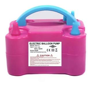Inflador Compressor 110v Bomba Balões Bexigas 2 Bicos Festas