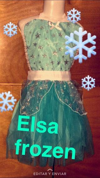 Disfraz Frozen Vestido Tutu Para Niña