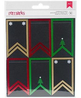American Crafts 375639 12 Piezas De Navidad Pequeñas Pancar