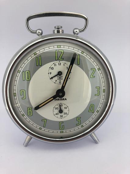 Relógio Despertador H Cromado Raridade, Novo Na Caixa