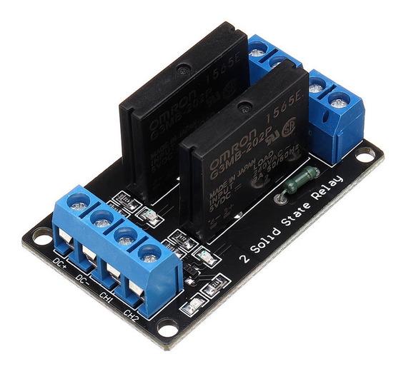 Módulo Rele De Estado Sólido 2 Canais 5v Ssr P/ Arduino