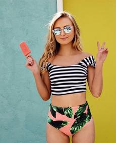 Tokio Moda Japonesa Traje Baño Playa Bikini Rayas Sexy Md14