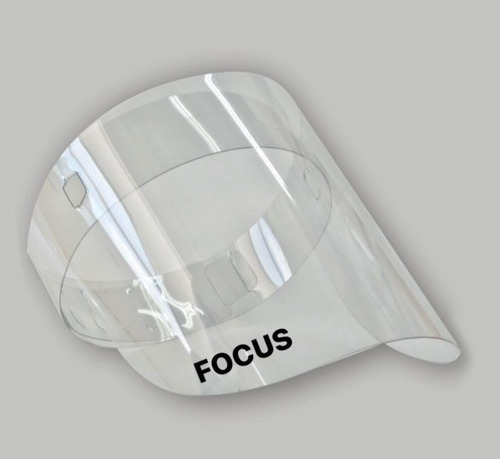 Careta Protección Facial Pet 28.5 Cm X 18cm Focus X 12 Unds