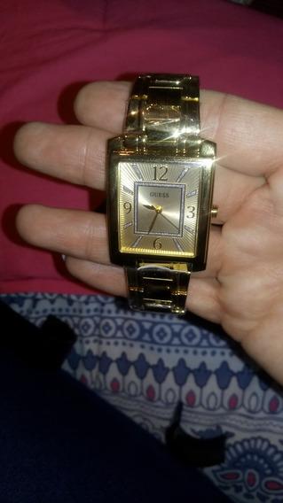 Padrisimo Reloj Mca Guess Dama En Oro Amarillo Nvo Con Etiq.