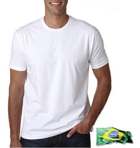 50 Camiseta Gola Redonda 100% Poliéster Ideal Sublimação
