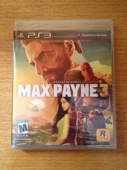 Max Payne 3 Ps3 Lacrado Midia Fisica