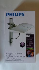 Antena Digital Amplificada 22db Philips Interna E Externa